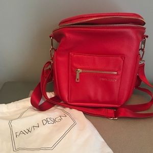 Fawn Design Diaper Bag - mini in Poppy
